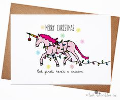 Funny Christmas Card  Magic Card  Holiday Card  by LostMarblesCo