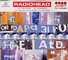 "For Sale - Radiohead Just For College UK Promo  CD single (CD5 / 5"") - See this and 250,000 other rare & vintage vinyl records, singles, LPs & CDs at http://eil.com"