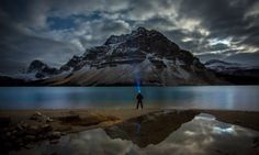 An ultimate selfie in Moraine Lake, Banff National Park, Canada.