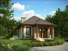 Bungalov do 60 000 € / Spring TL 103 Cabana, House Made, Small Space Living, Types Of Houses, Little Houses, Bungalow, Property For Sale, Tiny House, Gazebo