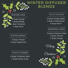 want your house to smell all Christmas-y?? Try these different combos in your diffuser! I've been diffusing Christmas Spirit and Peppermint and it makes me want to sip egg nog whilst wearing an ugly Christmas sweater and kissing under mistletoe. (not really, eggnog is gross but you get the idea.) ☃ #youngliving #christmas #essentialoils
