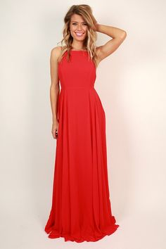 Fallin' in Love Maxi Dress in Red