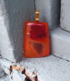 Large Glass Pendant/ Fused Glass Pendant/ Glass by FancyThatFusion, $18.00