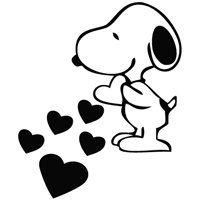 Amazon.com: Snoopy Love Hearts - Wall Size Cartoon Decal Vinyl Decor Graphics Wallpaper Sticker: Home & Kitchen