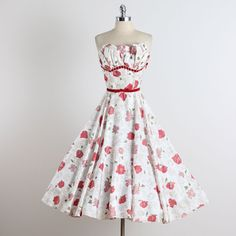 French Meadow . vintage 1950s dress . vintage cocktail dress . 1468