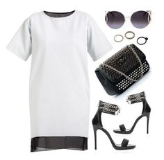 """""""Rock It"""" by firstboutique ❤ liked on Polyvore featuring Philipp Plein, white and black"""