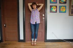 summertime splash collared buttondown tank by THESALTYFAWN on Etsy, $22.00
