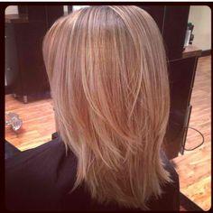 Medium hair with layers #ElleHairSpa #Raleigh #NC