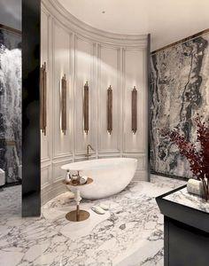 Bathroom interior design 49258189662393665 - 46 Bathroom Design Ideas with Modern Bathup Design # Source by Contemporary Bathroom Designs, Bathroom Design Luxury, Modern Contemporary, Contemporary Bathtubs, Contemporary Wall Sconces, Modern Lamps, Contemporary Apartment, Modern Coastal, Design Bedroom