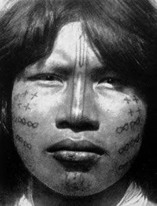 Lengua woman with facial tattoos, 1930.
