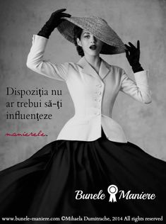 dispozitia nu trebuie sa-ti influenteze manierele Ispirational Quotes, True Words, Binder, Women's Fashion, Teaching, Lady, Instagram, Quote