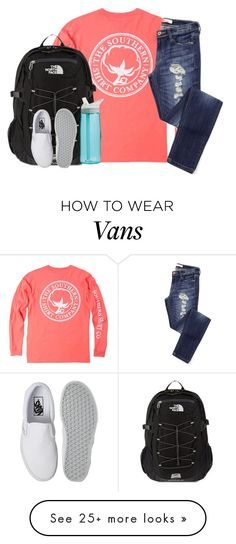 """""""incredibly bad day."""" by kaley-ii on Polyvore featuring The North Face, Vans, CamelBak, women's clothing, women, female, woman, misses and juniors"""