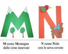 Alfabeto...in rima Preschool Letter Crafts, Abc Crafts, Alphabet Crafts, Kindergarten Crafts, Letter A Crafts, Crafts For Kids, Italian Alphabet, Montessori, Prek Literacy