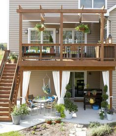 Two  story deck.  We are thinking ours will be about this tall.