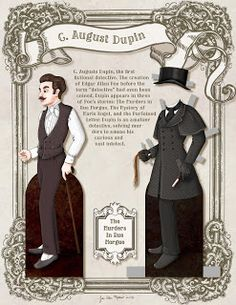 C. Auguste Dupin paper doll page 1of 2