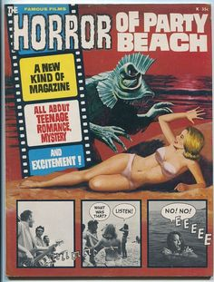 THE HORROR OF PARTY BEACH magazine produced like an Italian fumetti strip with photos from the film.
