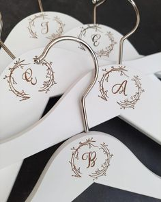 ⭐⭐⭐⭐⭐ 'These hangers are absolutely stunning and make such a great keep-sake for my dress and all of my bridesmaids! I can't wait for the photos with all of our dresses hanging up!' • • • • • #bridesmaidhangers #personalizedhangers #bridesmaidgift #bridalshowergift #bridalpartygifts #bridesmaids #bridalshower #bridalparty #giftideas #bridesmaidideas #bridesmaidgiftideas #bridesmaids #bridesmaidduty #personalizedgift #customhanger #bridesquad #weddinggifts #bridalpartysquad #bridesmaidinspiration Bridesmaid Hangers, Bridesmaid Duties, Wedding Hangers, Bridesmaid Gifts, Bridesmaids, Personalized Hangers, Personalized Wedding, Wedding Gifts, Wedding Day