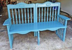 Bench from drop side baby crib