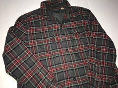 a8e2d9a79719 Vintage Woolrich Plaid Button Down Long Sleeve Button Up Shirt Size US L   EU  52
