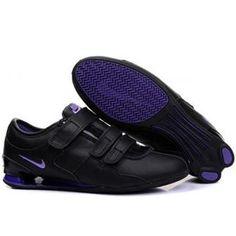 a7e59a45c113 Nike Shox R3 Femmes Chaussures magique Boucle Noir Violet Nike Shox For  Women