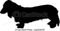 miniature dachshund - stock illustration,