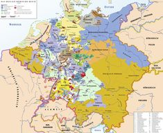The Holy Roman Empire in 1789, just before the French Revolution