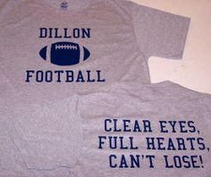 Friday Night Lights Panthers Clear Eyes T Shirt Dillon | eBay
