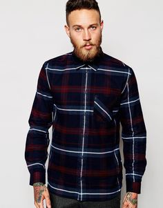 Image 1 ofWeekday Shirt Danny Flannel Check