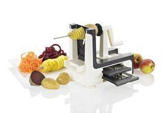 Dreht mit dem Lurch Super #Spiralschneider in Nullkommanichts Spiralen aus Kartoffeln, Karotten, Äpfeln, Zucchini!