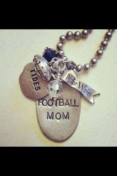 Are you a football fan?  Make your own customized tag and add your team color crystals to give it bling!