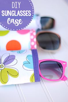 This summer sew up a cute little DIY sunglasses case in 3 easy steps. It's great to throw in your purse or beach bag and take on the go with you.