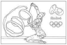 Free coloring page coloring-adult-rio-2016-olympic-games-gymnastic. Rio 2016 Summer Olympic Games (5-21 Aug) : Sport : Gymnastic. By Sofian