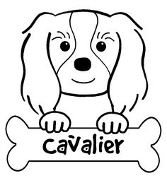 Cavalier King Charles Spaniel Coloring Pages Cavalier King Charles, King Charles Spaniel, Free Printable Coloring Pages, Cute Dogs, Coloring Books, Pup, Applique, Doodles, Artsy