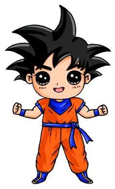 Goku draw so cute Kawaii Girl Drawings, Disney Drawings, Cartoon Drawings, Easy Drawings, Chibi Kawaii, Kawaii Art, Anime Chibi, Cute Characters, Cartoon Characters