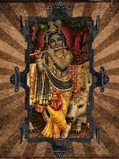 Offer it Up Radha Krishna Photo, Krishna Photos, Krishna Love, Krishna Art, Shiva Parvati Images, Lord Krishna Images, Indian Traditional Paintings, Krishna Mantra, Little Krishna