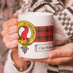 Show your Clan pride with this Clan Crest and Tartan Mug. This mug is 11...