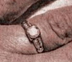 Bonnie's wedding ring, which she wore to the day she died.  Now in the possession of her niece, Rayleen (sp?) Linder.