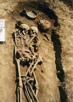 Petrykiv necropolis near Ternopil, Ukraine. Burial n.27 discovered in 1995.