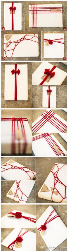 Something to do with yarn... Gift wrapping!