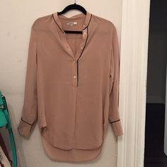 Blush Colored Silk Blouse 40