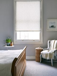 Using grey adds a subtle hint of pattern to a room without being overpowering. Use neutral accessories in wood and cream to finish the look off .Made to measure Riba Sea Spray Roller blind is great for this look. Perfect for bedrooms and living rooms.