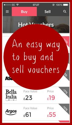 An easy way to buy and sell vouchers and save money in the process.Love this online market place for vouchers 5 billion pounds worth of vouchers get thrown away each year