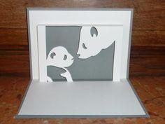 Kirigami : Gabarit gratuit : Maman Panda & son petit