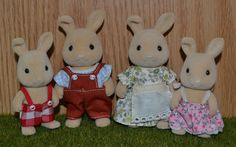 Sylvanian Families Dandelion Rabbit Family from the Japanese line of Sylvanian Families
