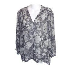 79e0976def9046 Joie Gray Caviar Cordia Silk Small Blouse Size 6 (S). Free shipping and.  Tradesy