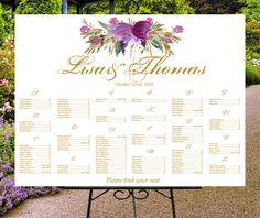 Wedding seating chart printable digital by PrintableEventsCo