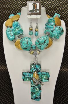 Turquoise Chunky Statement Western Cowgirl by CayaCowgirlCreations, $65.50