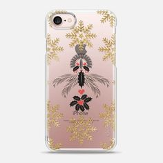 Gold snowflakes - Snap Case