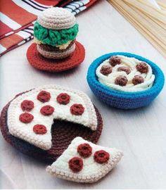 pizza amigurumi pattern - Food Amigurumi - Ice Box Crochet - Crochet Pretend Play Food