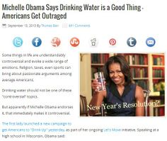 Does Your New Year's Resolution Come From Michelle Obama? Drinking water is a great New Year's resolution, even if you dislike Michelle Obama. Read the blog post at http://golivegreenlife.com/shungit-2/does-your-new-years-resolution-come-from-michelle-obama/